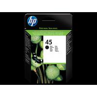 HP 45, Оригинальный струйный картридж HP, Большой, Черный for DeskJet 8xx/11xx/16xx, 42 ml, up to 830 pages, 5%. (51645AE)