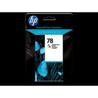 HP 78, Оригинальный струйный картридж HP, Трехцветный for DJ930/950/970/1220/PS1215/1315/1280, 19 ml, up to 560 pages, 15%. (C6578D)
