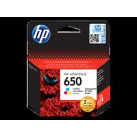 HP 650, Оригинальный картридж HP Ink Advantage, Трехцветный for Deskjet Ink Advantage 2515, up to 200 pages. (CZ102AE)