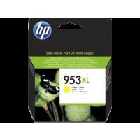 HP 953XL, Оригинальный струйный картридж HP увеличенной емкости, Желтый (F6U18AE)