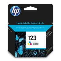 HP 123, Оригинальный струйный картридж, Трехцветный (F6V16AE)