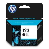 HP 123, Оригинальный струйный картридж, Черный for DeskJet 2130/2630/3639 up to 120 pages (F6V17AE)