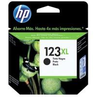 HP 123XL, Оригинальный струйный картридж увеличенной емкости, Черный (F6V19AE)
