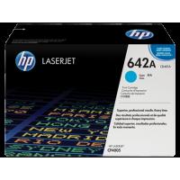 HP 642A, Оригинальный лазерный картридж HP LaserJet, Голубой (CB401A)