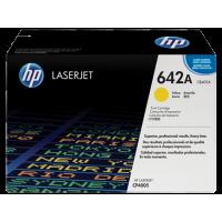 HP 642A, Оригинальный лазерный картридж HP LaserJet, Желтый (CB402A)