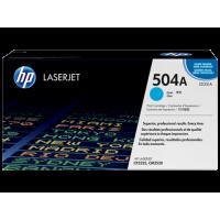 HP 504A, Оригинальный лазерный картридж HP LaserJet, Голубой (CE251A)