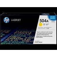 HP 504A, Оригинальный лазерный картридж HP LaserJet, Желтый (CE252A)