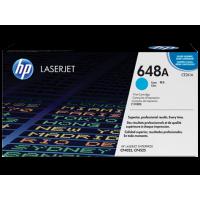 Картридж с тонером HP 648A LaserJet, голубой (CE261A)