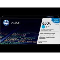 HP CE271A, Картридж с тонером HP 650A LaserJet, голубой for Color LaserJet CP5525/M750, up to 15000 pages.