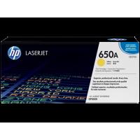 Картридж с тонером HP 650A LaserJet, желтый (CE272A)