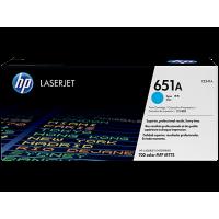 HP 651A, Оригинальный лазерный картридж HP LaserJet, Голубой (CE341A)