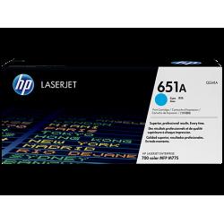 HP 651A, Оригинальный лазерный картридж HP LaserJet, Голубой for LaserJet 700 Color MFP775, up to 16000 pages. (CE341A)