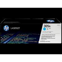 HP 305A, Оригинальный лазерный картридж HP LaserJet, Голубой for LaserJet Pro 300 Color М351/MFP M375/400 Color M451/MFP M475, up to 2600 pages. (CE411A)