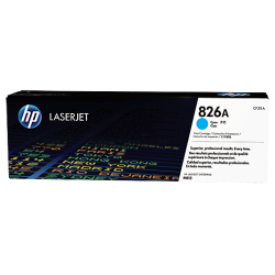HP 826A, Оригинальный лазерный картридж HP LaserJet, Голубой for Color LaserJet M855dn/x+/xh, up to 31500 pages. (CF311A)