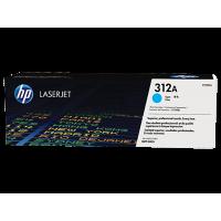 HP 312A, Оригинальный лазерный картридж HP LaserJet, Голубой for Color LaserJet Pro MFP M476, up to 2700 pages. (CF381A)