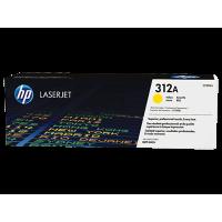HP 312A, Оригинальный лазерный картридж HP LaserJet, Желтый for Color LaserJet Pro MFP M476, up to 2700 pages. (CF382A)