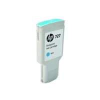 HP 727, Струйный картридж DesignJet, 300 мл, Голубой (F9J76A)