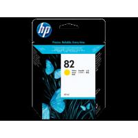 HP 82, Струйный картридж DesignJet, 69 мл, Желтый (C4913A)