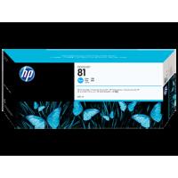 HP 81, Струйный картридж HP на основе красителя, 680 мл, Голубой (C4931A)