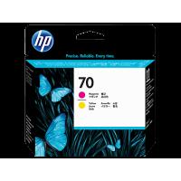 HP 70, Печатающая головка DesignJet, Пурпурная и Желтая (C9406A)