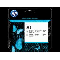 HP 70, Печатающая головка DesignJet, Черная для фотопечати и Светло-серая (C9407A)