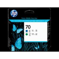 HP 70, Печатающая головка DesignJet, Синяя и Зеленая (C9408A)