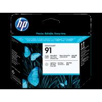 HP 91, Печатающая головка HP, Черная фото и Светло-серая (C9463A)