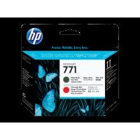 HP 771, Печатающая головка HP Designjet, Черная матовая/Хроматическая красная (CE017A)