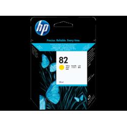 HP 82, Струйный картридж HP, 28 мл, Желтый (CH568A)