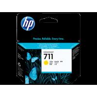 HP 711, Струйный картридж HP, 29 мл, Желтый for Designjet T120/T520 ePrinter, 29 ml. (CZ132A)