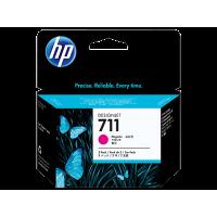 HP 711, Упаковка 3шт, Струйные картриджи HP, 29 мл, Пурпурные (CZ135A)