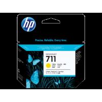 HP 711, Упаковка 3шт, Струйные картриджи HP, 29 мл, Желтые (CZ136A)