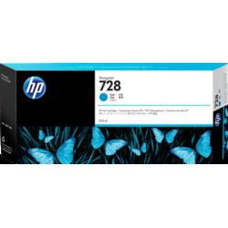 HP 728, Струйный картридж DesignJet, 300 мл, Голубой (F9K17A)
